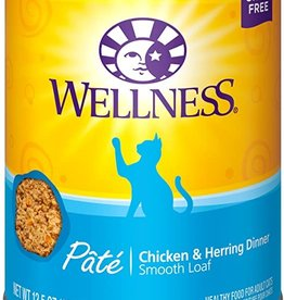 Wellness Pet Food Cat Complete Chicken & Herring Pate - Grain-Free 12oz