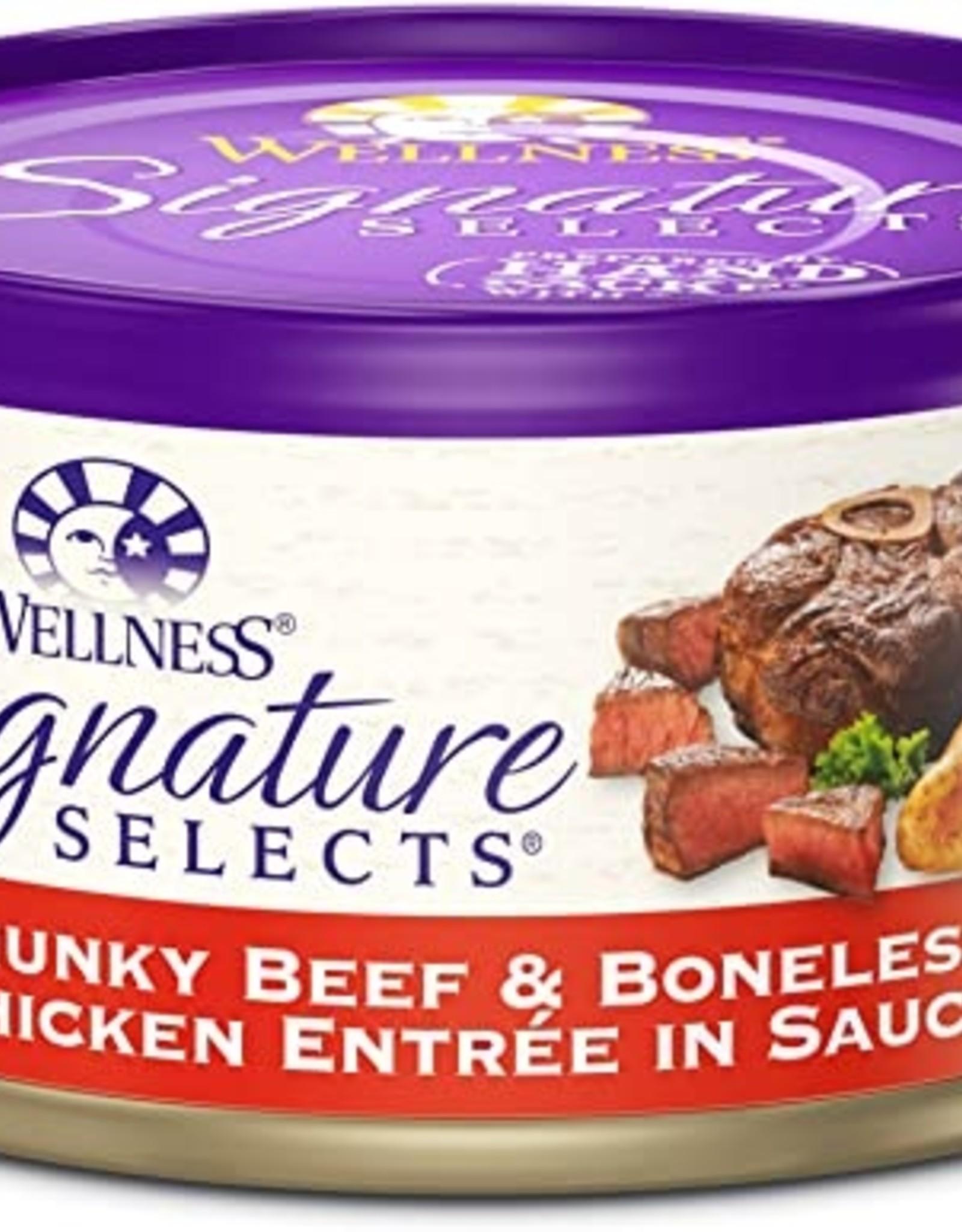 Wellness Pet Food Cat Signature Beef & Chicken Chunky - Grain-Free 5.5oz