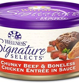 Wellness Pet Food Cat Signature Beef & Chicken Chunky - Grain-Free 5.5oz