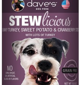 Daves Pet Food Dog Chunky Turkey Stew - Grain-Free 13oz