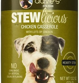 Daves Pet Food Dog Chicken Casserole Stew - Whole Grain 13oz