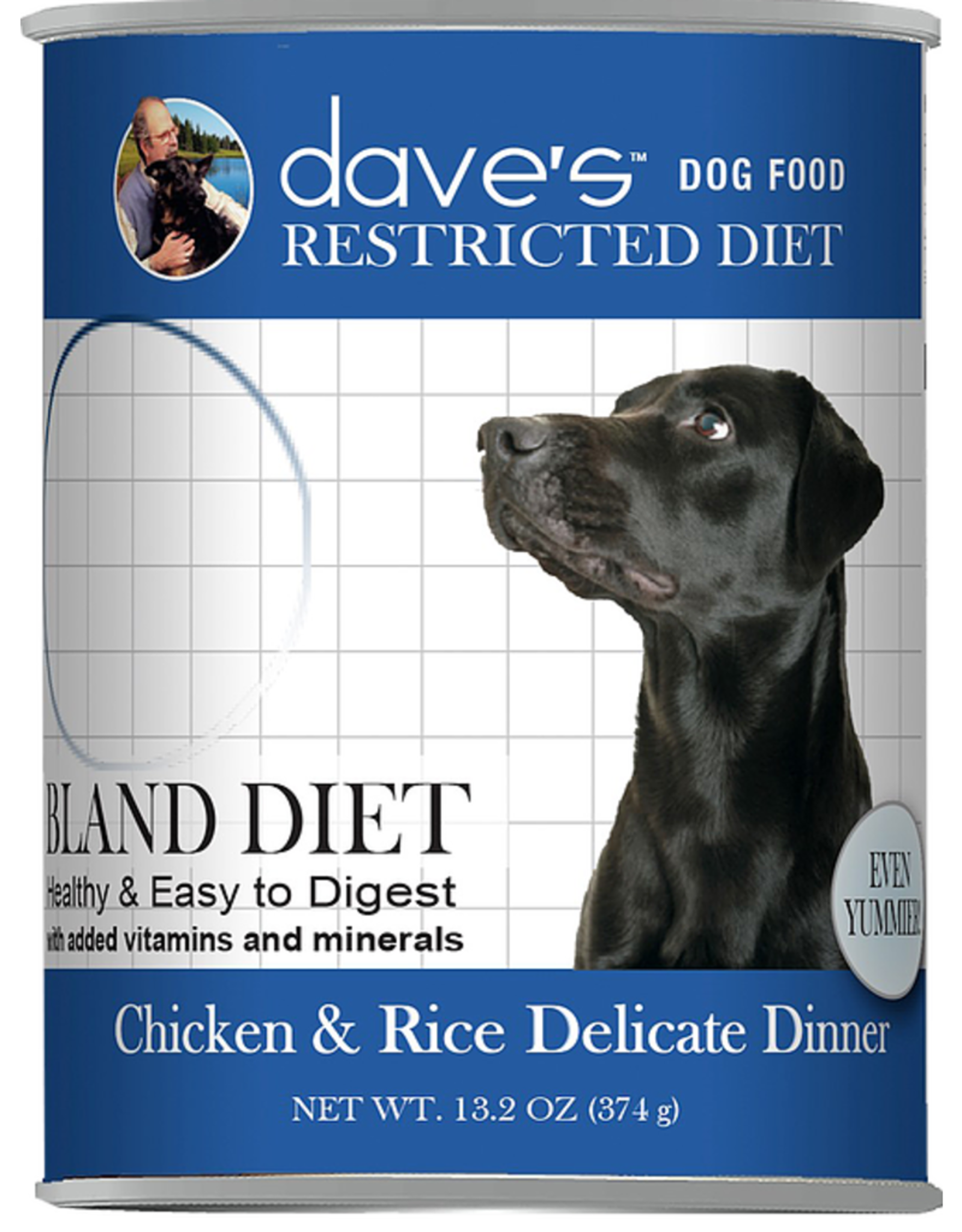 Daves Pet Food Dog Bland Chicken & Rice - Whole Grain 13oz