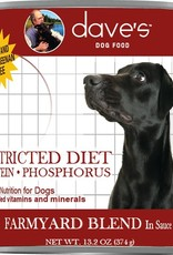 Daves Pet Food Dog Restricted Diet Low Phosphorus - Grain-Free 13oz