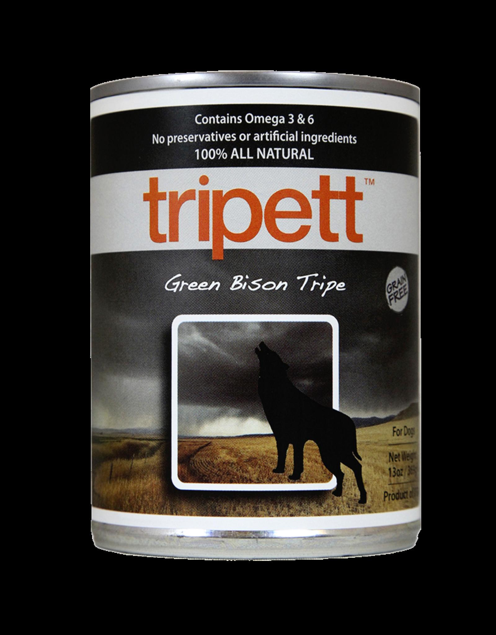 PetKind Dog Green Bison Tripe Tripett - Grain-Free 12.8oz