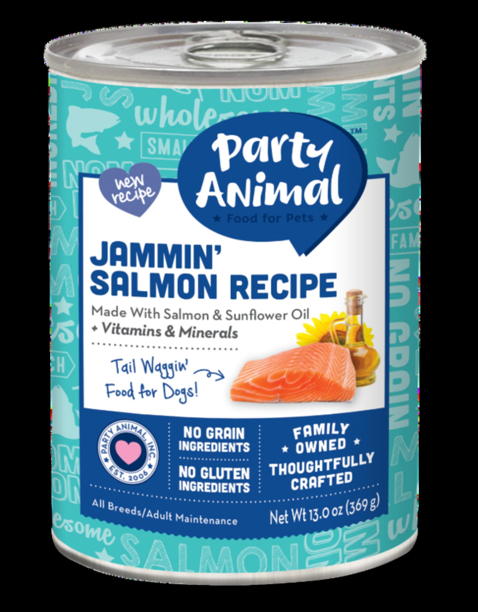 Party Animal Dog Jammin' Salmon Recipe Pate - Grain-Free 13oz