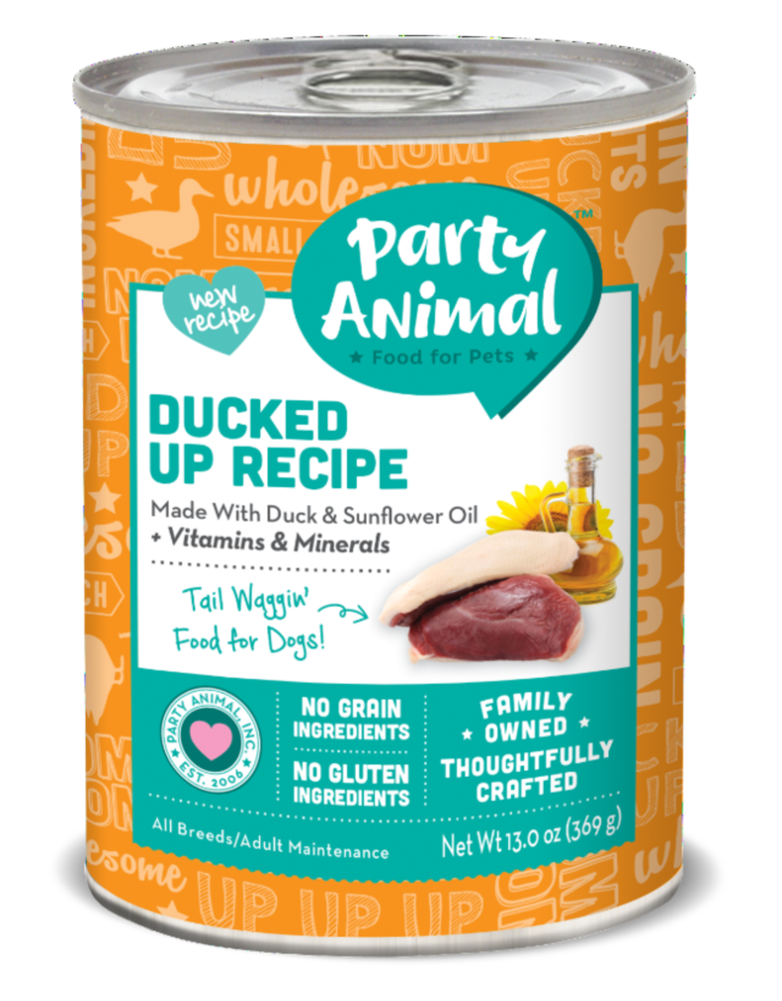 Party Animal Dog Ducked Up Recipe Pate - Grain-Free 13oz