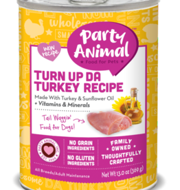 Party Animal Dog Turn Up Da Turkey Recipe Pate - Grain-Free 13oz