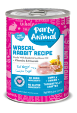 Party Animal Dog Wascal Rabbit Recipe Pate - Grain-Free 13oz