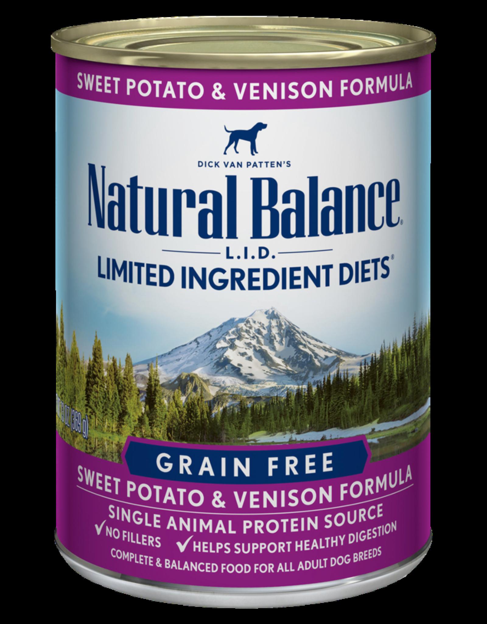 Natural Balance Dog L.I.D. Sweet Potato & Venison Pate - Grain-Free 13oz