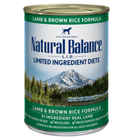 Natural Balance Dog L.I.D. Lamb & Brown Rice Pate - Whole Grain 13oz