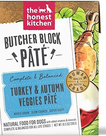 The Honest Kitchen Dog Turkey & Autumn Veggies Pate - Whole Grain 10.5oz