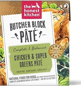 The Honest Kitchen Dog Chicken & Super Greens Pate - Grain-Free 10.5oz