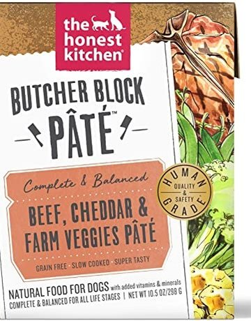 The Honest Kitchen Dog Beef & Veggies Pate - Grain-Free 10.5oz