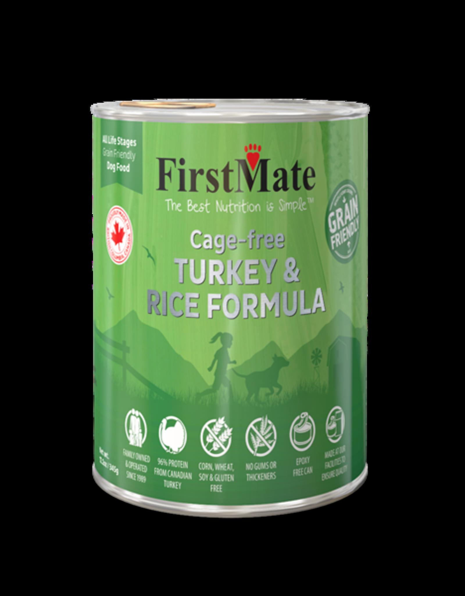 FirstMate Pet Food Dog Turkey & Rice Pate - Whole Grain 12oz