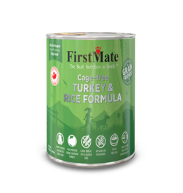 FirstMate Pet Food Dog Turkey & Rice Pate - Whole Grain 12oz