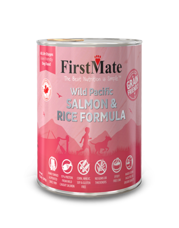 FirstMate Pet Food Dog Salmon & Rice Pate - Whole Grain 12oz