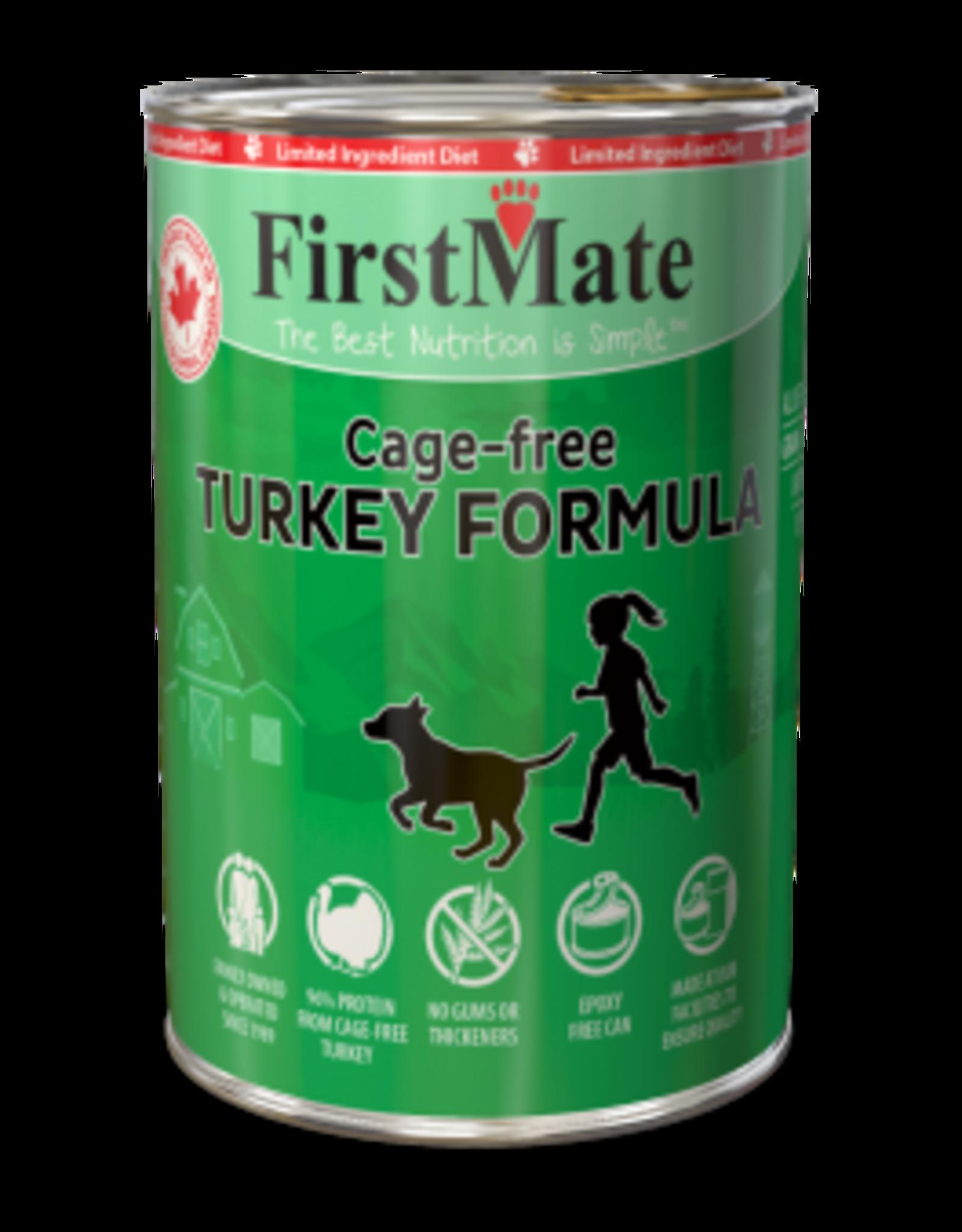 FirstMate Pet Food Dog L.I.D. Turkey Pate - Grain-Free 12oz
