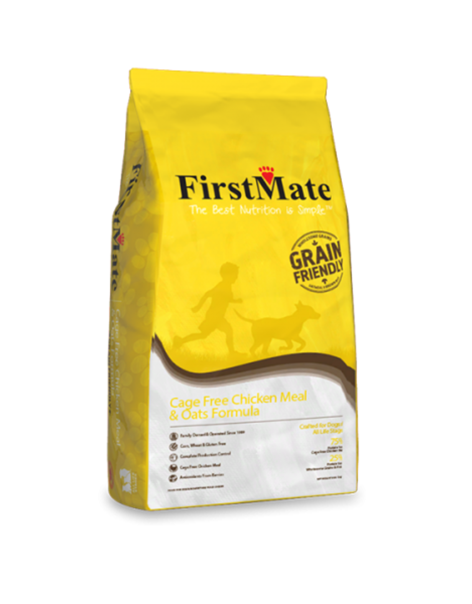 FirstMate Pet Food Dog Chicken & Oats - Whole Grain 25lb