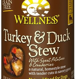 Wellness Pet Food Dog Turkey & Duck Stew - Grain-Free 12oz