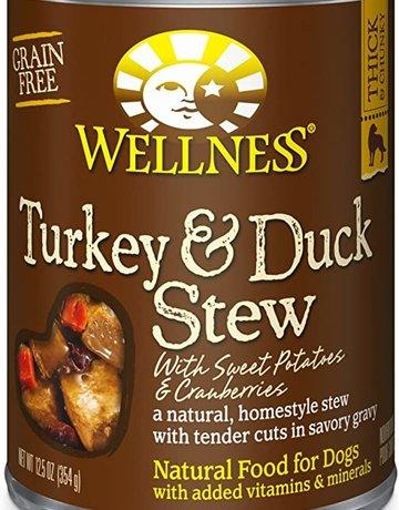 Wellness Pet Food Dog Turkey & Duck Stew - Grain-Free 12oz