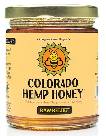 Colorado Hemp Honey Raw Relief Jar - 12oz