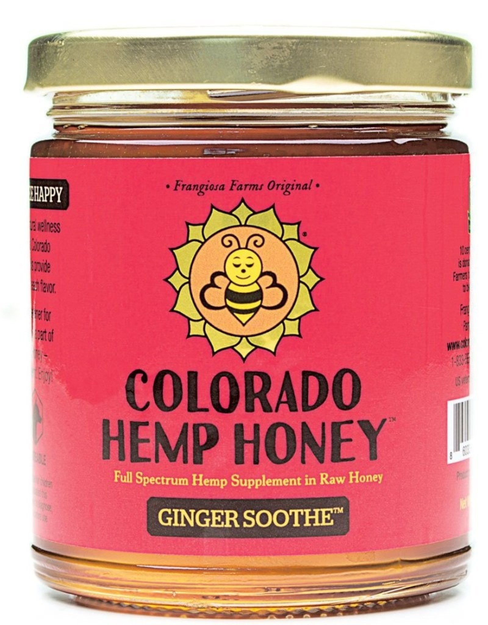 Colorado Hemp Honey Ginger Soothe Jar - 6oz