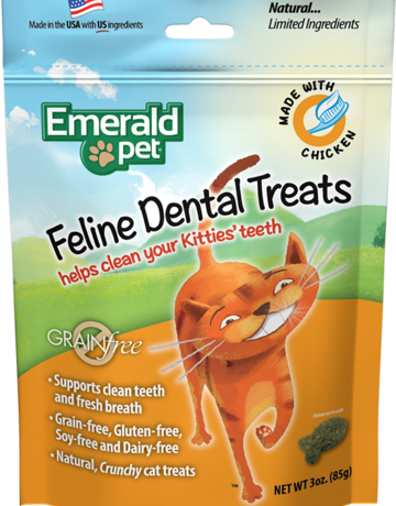 Emerald Pet Feline Dental Treats - Chicken 3oz