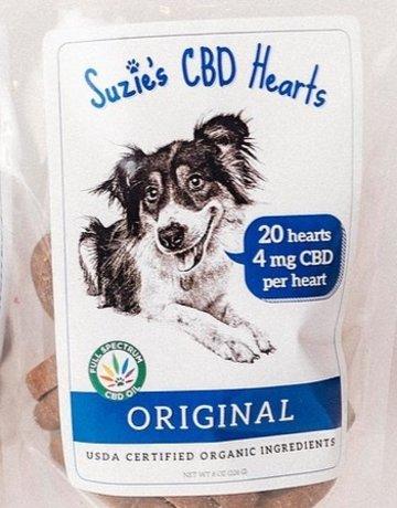 Suzie's Pet Treats Hemp Hearts Original - 20ct