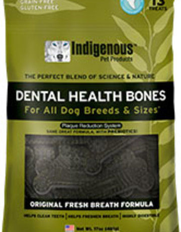 Indigenous Pet Products Dental Bones Fresh Breath 17oz