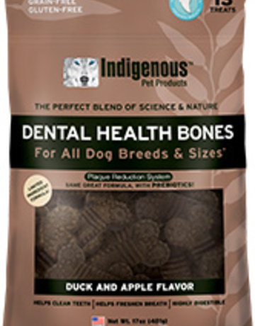 Indigenous Pet Products Dental Bones Duck & Apple 17oz
