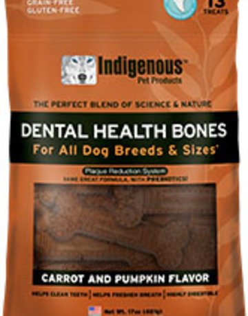 Indigenous Pet Products Canine Dental Bones Carrot & Pumpkin