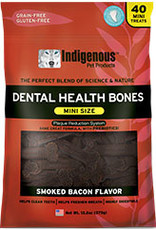 Indigenous Pet Products Mini Dental Bones Smoked Bacon 13oz