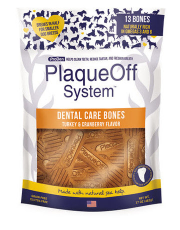 PlaqueOff Dental Bone Turkey & Cranberry 17oz