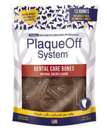 PlaqueOff Dental Bone Bacon 17oz