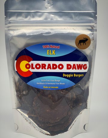 Colorado Dawg Elk Doggie Burger - 4 oz