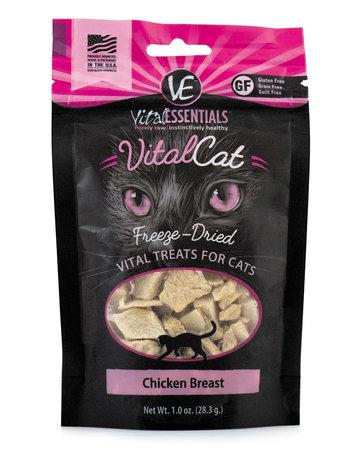 Vital Essentials Feline Freeze-Dried Chicken Breast Treats
