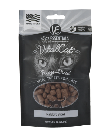 Vital Essentials Cat Rabbit Bites Freeze-Dried Treats - 0.9oz