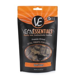 Vital Essentials Dog Beef Liver Freeze-Dried Treats - 2.1oz
