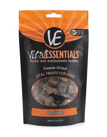 Vital Essentials Dog Beef Liver Freeze-Dried Treats - 2.1oz