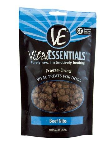 Vital Essentials Dog Beef Nibs Freeze-Dried Treats - 2.5oz