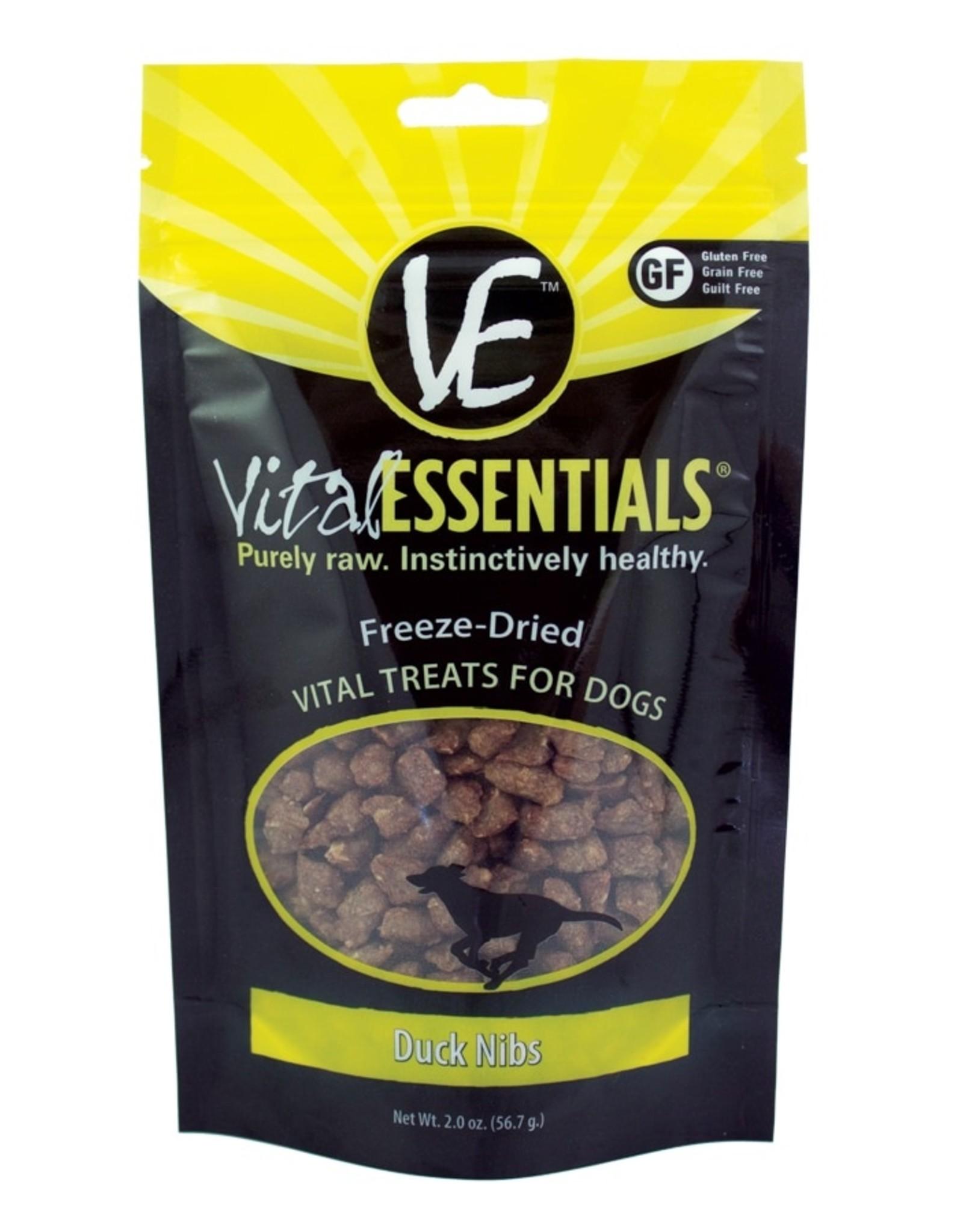 Vital Essentials Dog Duck Nibs Freeze-Dried Treats - 2oz