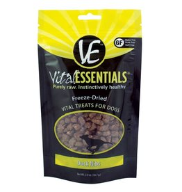Vital Essentials Dog Duck Nibs Freeze-Dried Treats - 2oz