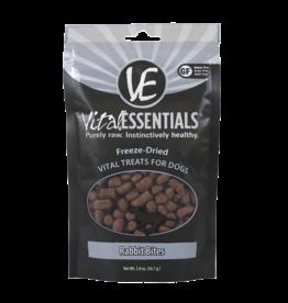 Vital Essentials Dog Rabbit Bites Freeze-Dried Treats - 2oz