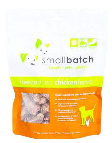 SmallBatch Pets Freeze-Dried Chicken Hearts - 3.5oz