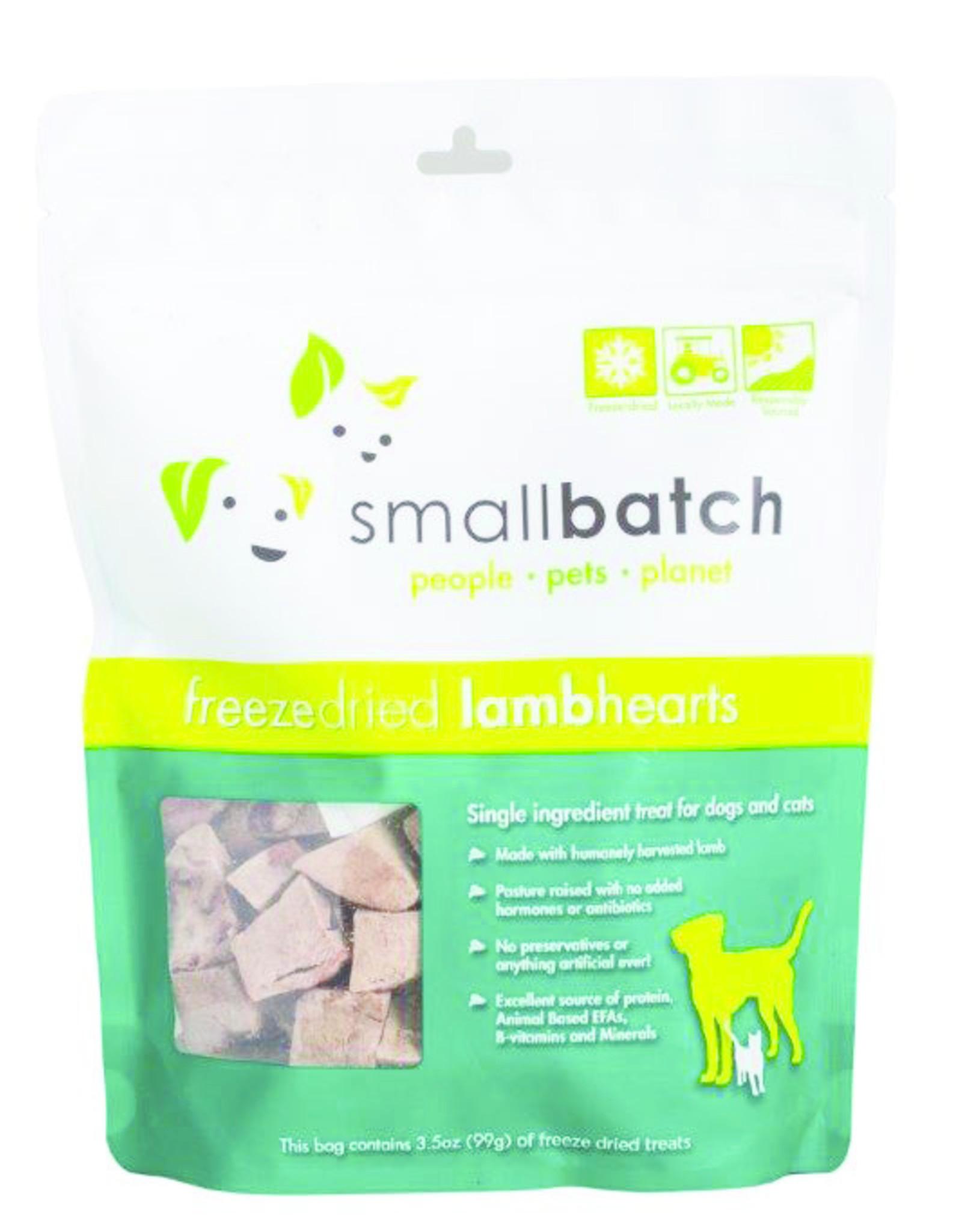 SmallBatch Pets Freeze-Dried Lamb Hearts - 3.5oz