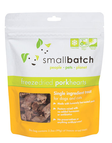 SmallBatch Pets Freeze-Dried Pork Hearts - 3.5oz
