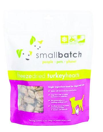 SmallBatch Pets Canine Freeze-Dried Turkey Hearts