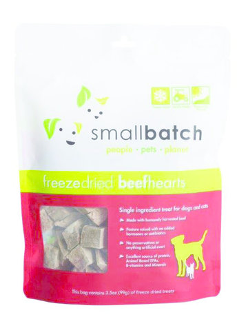 SmallBatch Pets Freeze-Dried Beef Hearts - 3.5oz