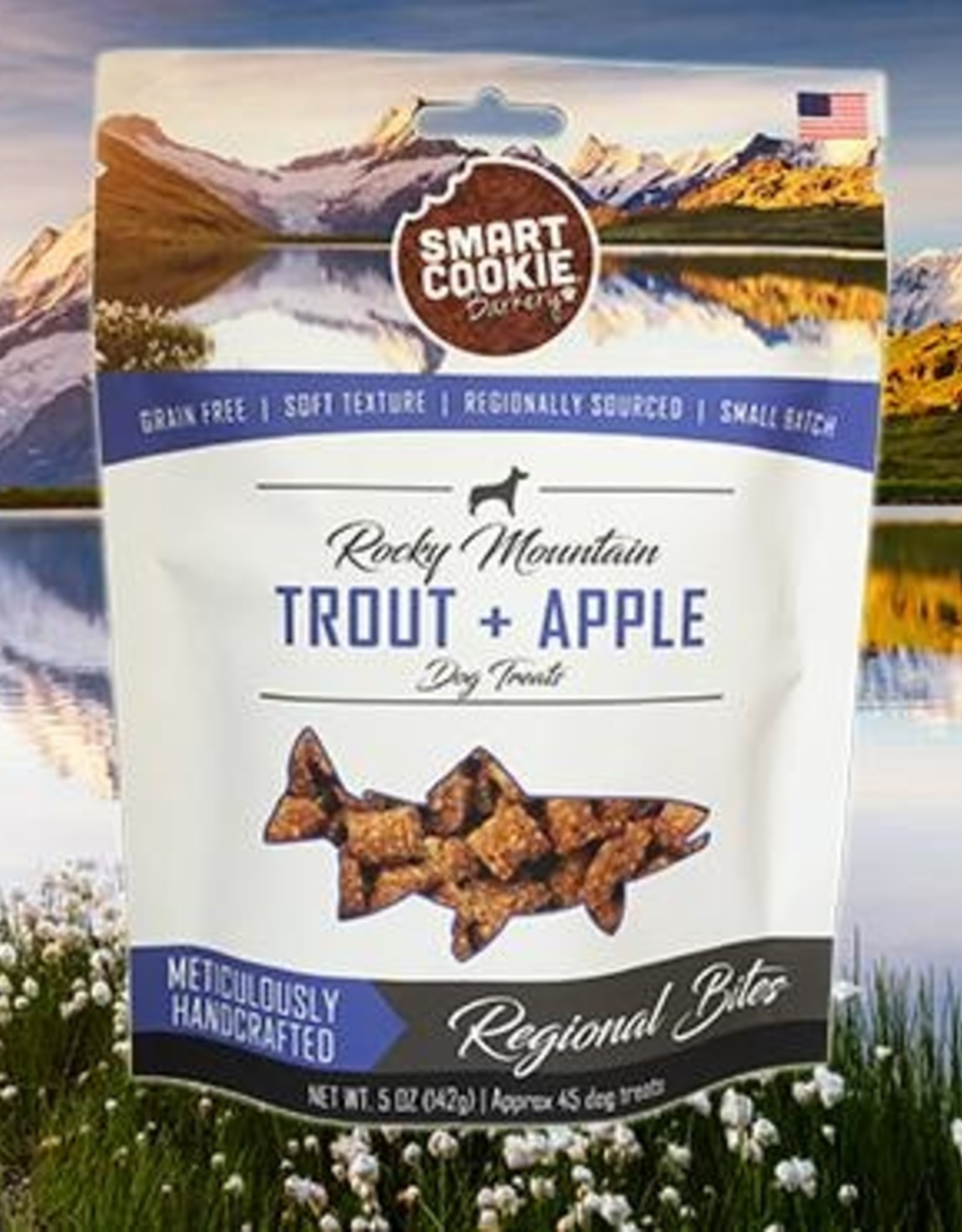 Smart Cookie Treats Dog Trout & Apple Treats - 5oz
