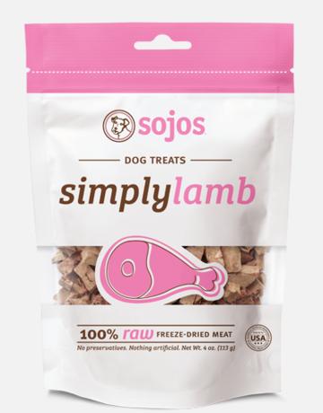 Sojos Pet Food Dog Simply Lamb Treats - 4oz